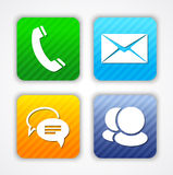 Communication app icons and web elements Royalty Free Stock Image
