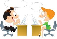 Communication au-dessus de l'Internet illustration stock