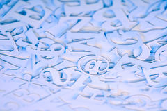 Communication background. Abstract communication background with focus on email sign Royalty Free Stock Photos