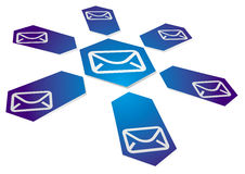Communication background with email sign Royalty Free Stock Images