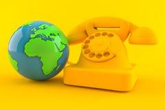 Communication background with world globe vector illustration