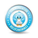 Communication bird design Stock Photography