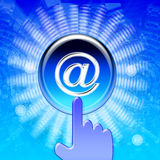Communication. Bleu. Background with scroll button Royalty Free Stock Photos
