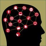 Communication brain Stock Image