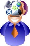 Communication brain stock illustration