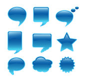 Communication bubble. Illustration of communication bubble....blue royalty free illustration