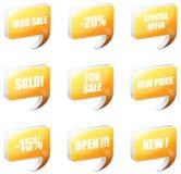 Communication bubbles. Set of orange communication bubbles Stock Images