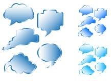 Communication bubbles. Illustration of communication bubbles, blue Stock Images