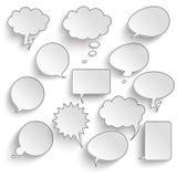 Communication Bubbles Set Royalty Free Stock Photography