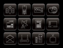 Communication and Business Icons Stock Photos