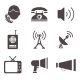 Communication business information media web icons Royalty Free Stock Image
