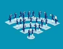 Communication. Business people communication. Concept business v. Ector illustration. Teamwork, Cooperation royalty free illustration