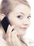 Communication. Businesswoman talking on cell phone Royalty Free Stock Images