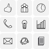 Communication and bussines icons Royalty Free Stock Photos