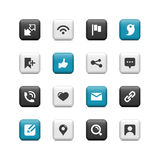 Communication buttons Stock Photography
