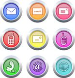 Communication buttons Royalty Free Stock Image