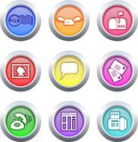 Communication buttons Royalty Free Stock Photos