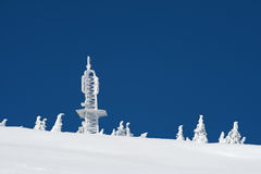 Communication center in snow Stock Photography