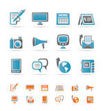 Communication channels and Social Media icons Stock Images