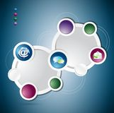 Communication circle colorloop business, template Stock Photo