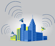 Communication in the city Royalty Free Stock Photography