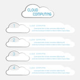 Communication through cloud computing info graphics Royalty Free Stock Images