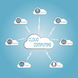 Communication through cloud computing technology Stock Photography
