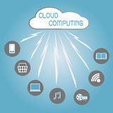 Communication through cloud computing technology Royalty Free Stock Photography