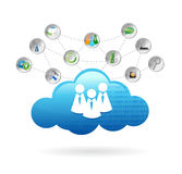 Communication cloud illustration design Stock Photography