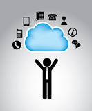 Communication clouds Royalty Free Stock Photos