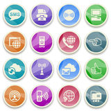 Communication color icons. Royalty Free Stock Photography