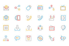 Communication Colored Outline Vector Icons 2 Royalty Free Stock Photography