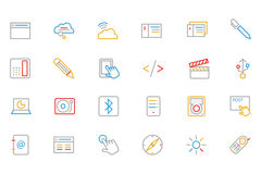 Communication Colored Outline Vector Icons 6 Stock Photography