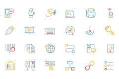 Communication Colored Outline Vector Icons 4 royalty free illustration