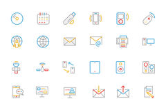 Communication Colored Outline Vector Icons 7 Stock Photos