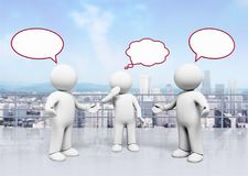 Communication. Discussion talking using voice three-dimensional shape teamwork speech bubble vector illustration