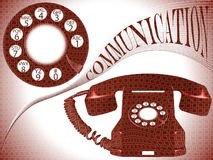 Communication composition Royalty Free Stock Photo