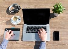 Communication, Computer, Desk Royalty Free Stock Photo