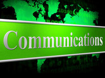 Communication Computer Indicates Global Communications And Chatting Royalty Free Stock Photos