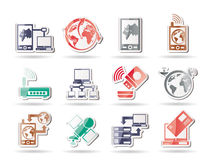 Communication, computer and mobile phone icons. Icon set Royalty Free Stock Photography