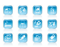 Communication, computer and mobile phone icons. Vector icon set Royalty Free Stock Images