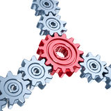 Communication concept. Gears with connective element. Communication concept Stock Image