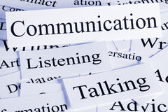 Communication Concept. A conceptual look at communication, listening, talking stock image