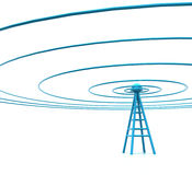 Communication concept. Mobile antenna. Communication concept and 4g Wireless Technology Vector Illustration