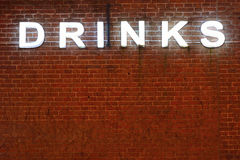 Communication concept , drinks neon lettering Stock Image