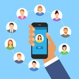 Communication concept with flat icons.  Stock Images