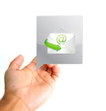 Communication concept. Hand and  email Stock Photo