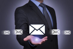 Communication Concept on Send Mail Royalty Free Stock Photos