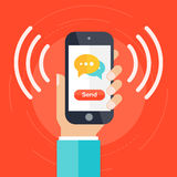 Communication concept vector Royalty Free Stock Images