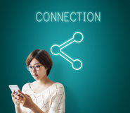 Communication Connection Digital Graphic Concept Stock Image